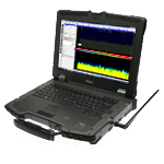 Aaronia Outdoor Spectrum Analyzer, (Military Analyzer Notebook XFR, 1MHz - 9,4GHz)